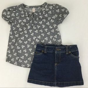 Other - Bow Shirt & Skirt Outfit